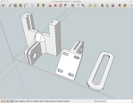 Proto-board holder pieces in SketchUp