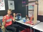 Johann and his Rostock 3D printer