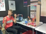 Johann and his Rostock 3D printer
