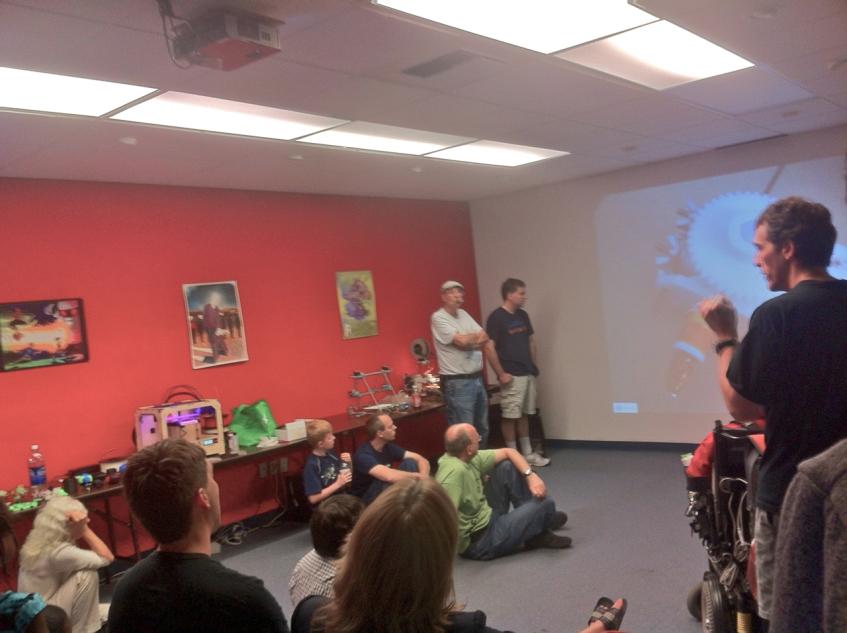 3D printer meetup attendees