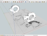 Sketch with objects in SketchUp