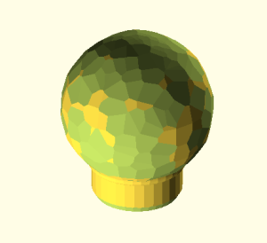 """Hand Hammered"" ball finial in OpenSCAD"