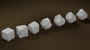 Rocks rendered from Blender