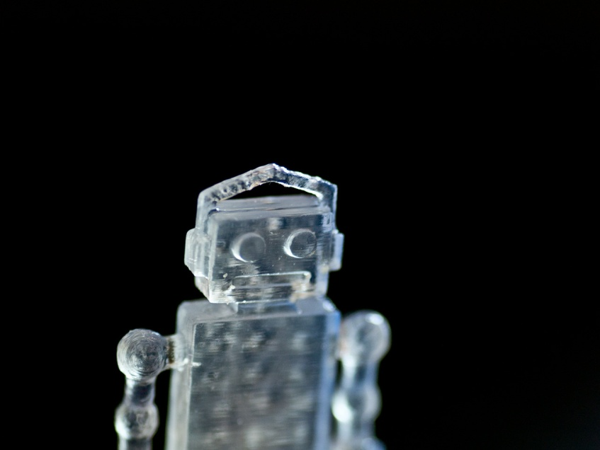 Tiny glass robot